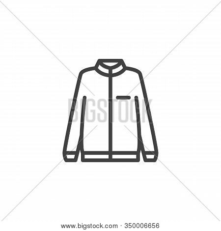 Long Sleeve Jacket Line Icon. Linear Style Sign For Mobile Concept And Web Design. Sweatshirt Jacket