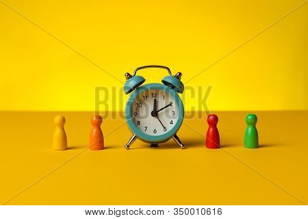Alarm Of Deadline In Business, Office Work Time Concept.