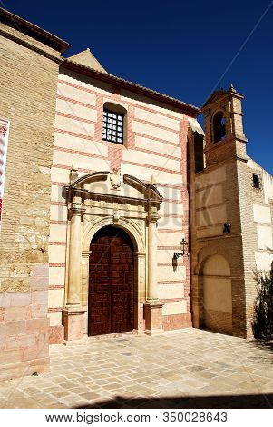 Entrance To Carmen Church, Antequera, Malaga Province, Andalucia, Spain.