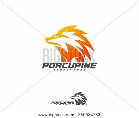 Porcupine Esport Gaming Mascot Logo Template Vector. Modern Porcupine Logo Vector