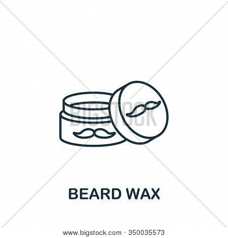 Beard Wax Icon From Barber Shop Collection. Simple Line Element Beard Wax Symbol For Templates, Web
