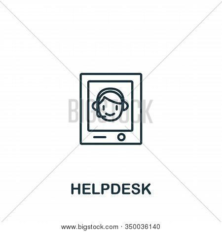 Helpdesk Icon From Customer Service Collection. Simple Line Element Helpdesk Symbol For Templates, W