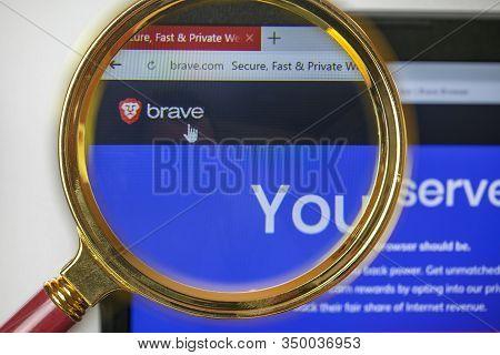 Rostov-on-don, Russia, January  24, 2020: Brave Browser: Fast Adblocker Dev Application On Smartphon