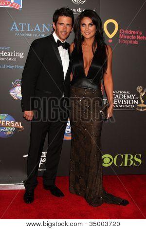 LAS VEGAS - JUN 19:  Brandon Beemer, Nadia Bjorlin arriving at the  38th Daytime Emmy Awards at Hilton Hotel & Casino on June 19, 2010 in Las Vegas, NV.