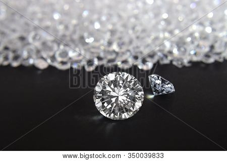 Selected Diamonds Shiny  Expensive And Rare For Jewelry Making