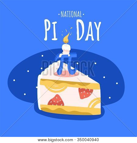 National Pi Day Square Banner Template. Annual Celebration Of The Mathematical Constant Pi On March