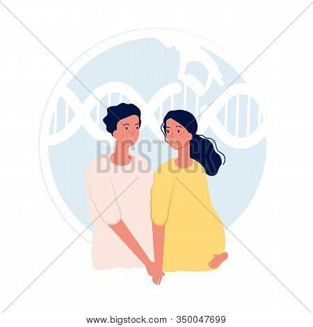In Vitro Fertilization. Modern Medicine And Fetal Genetic Testing. Parenthood, Young Couple. Materni