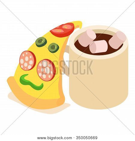 Quick Lunch Icon. Isometric Illustration Of Quick Lunch Vector Icon For Web