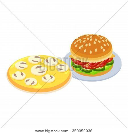 Tasty Food Icon. Isometric Illustration Of Tasty Food Vector Icon For Web