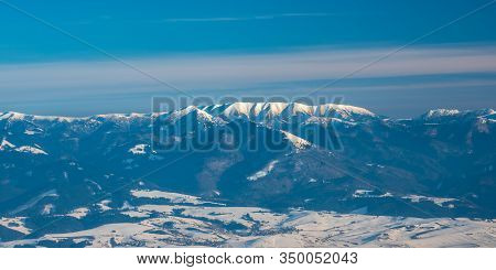 Velka Fatra And Western Part Of Nizke Tatry Mountains From Martinske Hole In Mala Fatra Mountains In