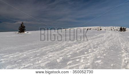 Winter Jeseniky Mountains Bellow Vysoka Hole Hill In Czech Republic With Vysoka Hole Hill, Communica