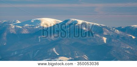 Borisov, Ploska And Cierny Kamen Hills In Velka Fatra From Martinske Hole In Mala Fatra Mountains In