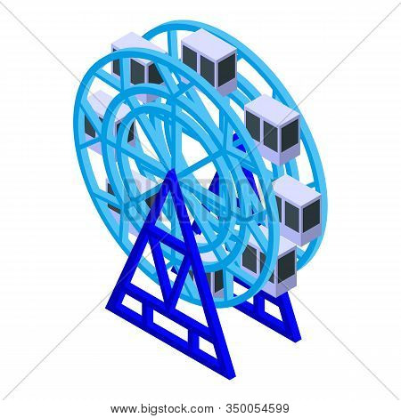 Ferris Wheel Icon. Isometric Of Ferris Wheel Vector Icon For Web Design Isolated On White Background