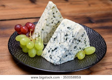 Cheese Collection, Strong Danish Blue Cheese Danablu With Blue Mould.