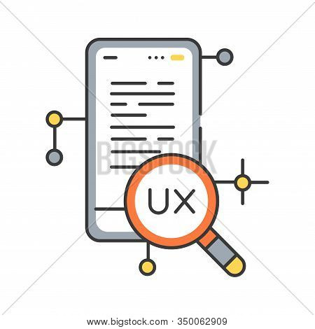 Ux Research Color Line Icon. Systematic Investigation Of Users And Their Requirements, In Order To A