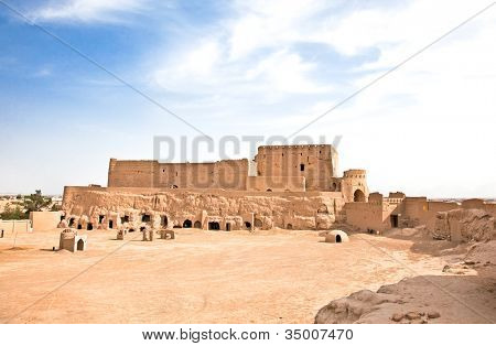 Narin Castle in Meybod .This is oldest mud-brick construcion in Iran, dating from 3. millenium B.C. Yazd province, Iran