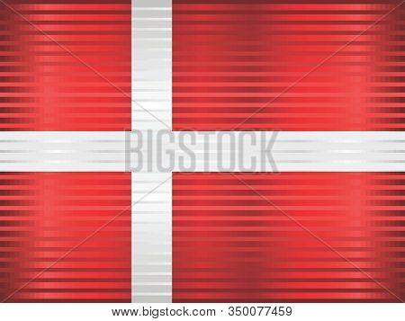 Shiny Grunge Flag Of The Denmark - Illustration,  Three Dimensional Flag Of Denmark