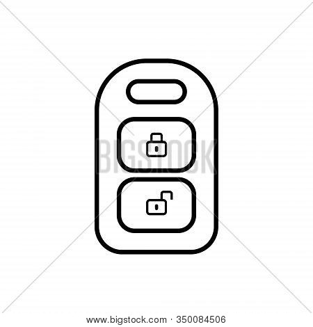 Auto Keychain Outline Icon Isolated. Symbol, Logo Illustration For Mobile Concept, Web Design And Ga