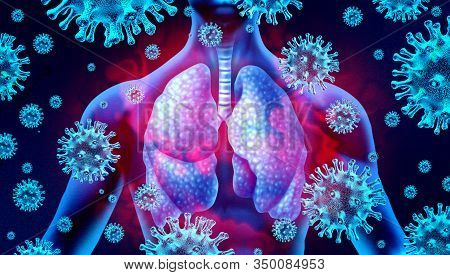 Lung Virus Infection And Coronavirus Outbreak Or Viral Pneumonia And Coronaviruses Influenza As A Da