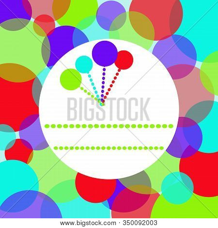 Vector Background Of Abstract Avant-garde With Multi-colored Geometric Shapes And A Frame