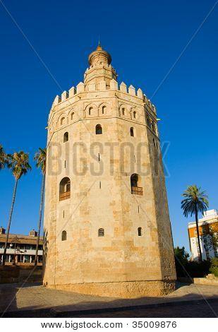 Torre del Oro - golden tower, Sevilla, Spain poster