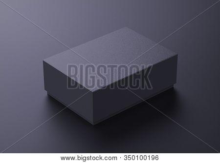 Luxury paper box mockup on dark background