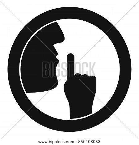 Silence Icon. Simple Illustration Of Silence Vector Icon For Web Design Isolated On White Background