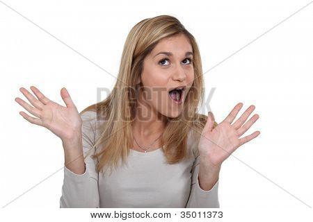 Woman gabbing