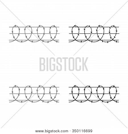 Vector Design Of Barbwire And Wire Logo. Web Element Of Barbwire And Fence Vector Icon For Stock.
