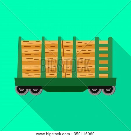 Isolated Object Of Wagon And Container Symbol. Graphic Of Wagon And Transportation Stock Vector Illu