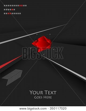 Trendy Geometric Background With Copy Space. Elements For Your Website, Posters, Magazines, Anual Re