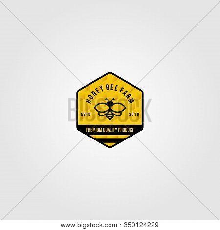 Bumblebee Logo Village Farm Vector Illustration Design