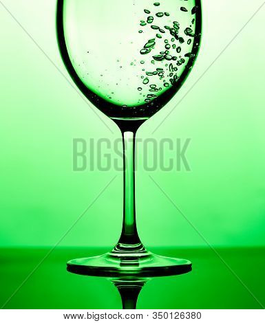 Closeup Photo Of Pouring Pure Water In Glass