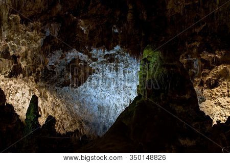 Cave Man-one Of The Many Chambers Deep Inside Carlsbad Cavern New Mexico