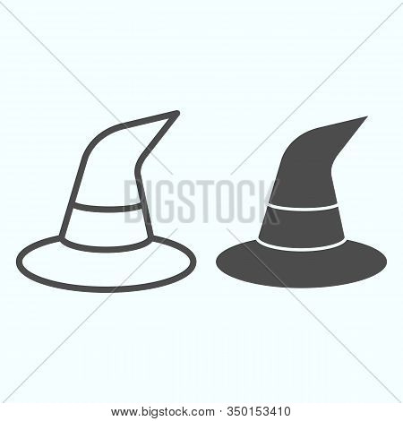 Witch Magic Hat Line Vector Photo Free Trial Bigstock