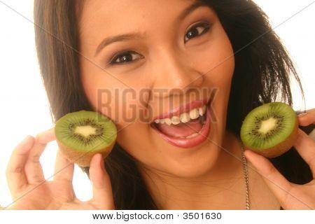Woman With Kiwi