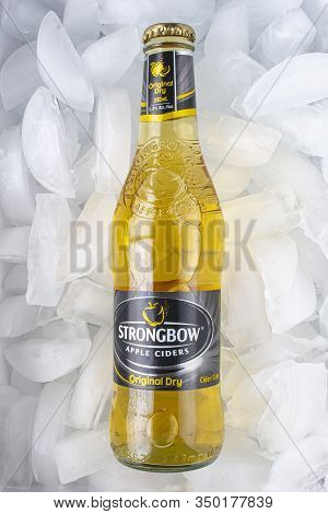 Calgary Alberta, Canada. Feb 10, 2020. Strongbow Gold Apple Cider 330 Ml