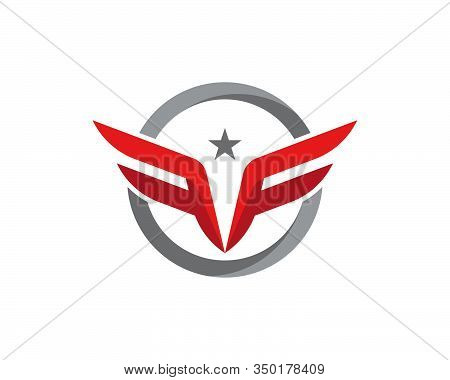F Letter Wing Logo Template