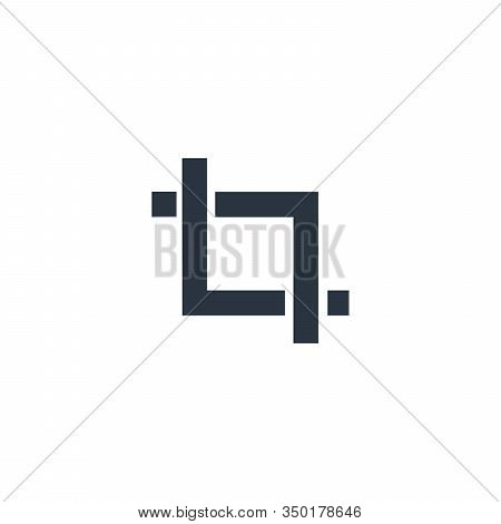 Crop Trim Tool Flat Sign Design. Can Be Used For Apps Web Software Etc. Stock Vector Illustration Is