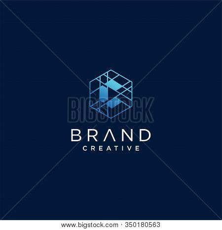 Hexagon Letter C Tech Logo . Abstract Hexagon Letter C Logo Design Vector Logotype . Line Hexagon Cr