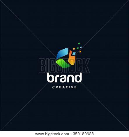 Triangle Tech Logo Colorfull .hexagon Tech Logo ,colorful Hexagon Logo Design Vector Stock . Hexagon