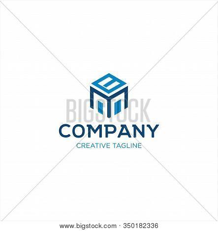 Abstract Hexagon Letter B M Mb M B Logo Design Vector Logotype . Line Hexagon Creative Simple Logo D