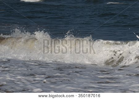 Closeup Of Sea Wave On The Beach, Sea And Beach, Indian Sea And Beach, Landscape Of Beaches, Beach B
