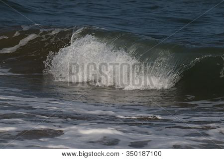 Closeup Of Sea Wave On The Beach, Sea And Beach, Indian Sea And Beach, Landscape Of Beaches,beach On
