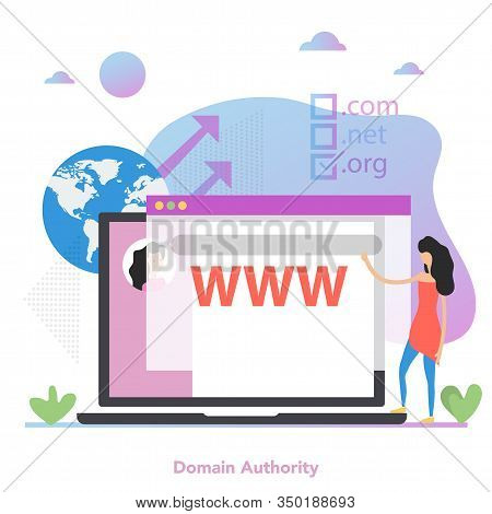 Square Concept Of Domain Authority In Flat