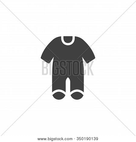 Baby Clothes Bodysuit Vector Icon. Jumpsuit Romper Filled Flat Sign For Mobile Concept And Web Desig