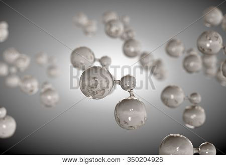 A Concept Of A Collection Of Transparent Liquid Molecules Gathering Underneath A Surface Layer On A