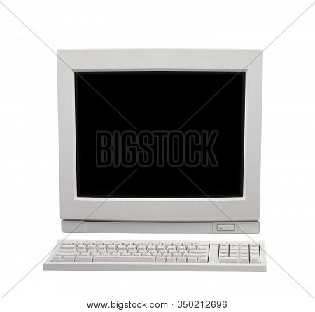 Desktop Computer Isolated On A White Background