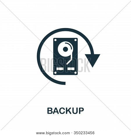 Backup Icon. Simple Element From Data Organization Collection. Filled Backup Icon For Templates, Inf