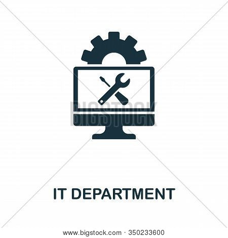 It Department Icon. Simple Element From Data Organization Collection. Filled It Department Icon For